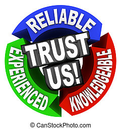 Trust Us Circle Words Reliable Experienced Knowledgeable -...