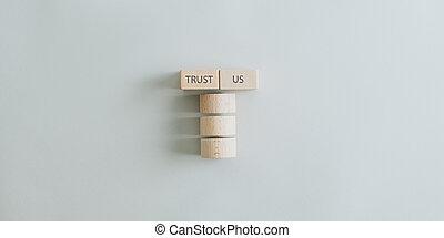Trust us sign