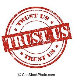 Trust Us-stamp