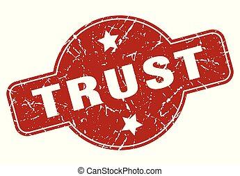 trust vintage stamp. trust sign