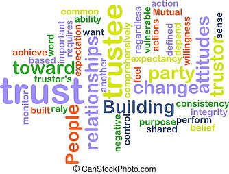 Trust wordcloud - Word cloud concept illustration of ...