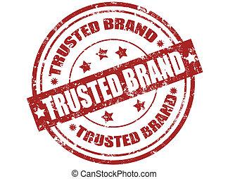 trusted, ブランド, 切手
