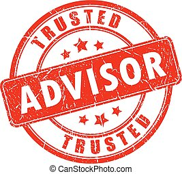 Trusted advisor business rubber stamp