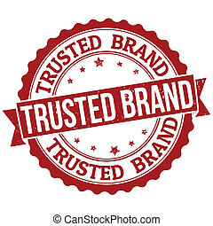 Trusted brand stamp - Grunge rubber stamp with the text...