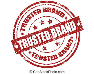 Trusted brand stamp - Grunge rubber stamp with word trusted...
