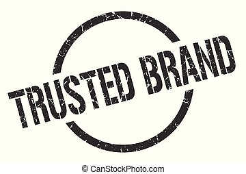 trusted brand stamp - trusted brand black round stamp
