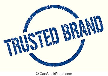 trusted brand stamp - trusted brand blue round stamp