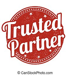 Trusted partner grunge rubber stamp on white background, vector illustration