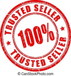 Trusted seller vector stamp