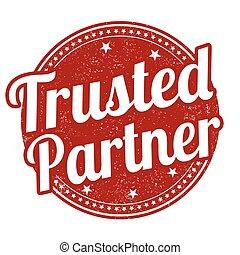 trusted, socio, francobollo