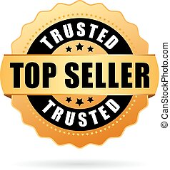 Trusted top seller vector icon