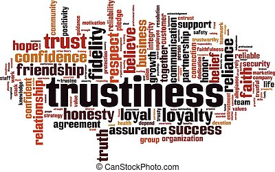Trustiness word cloud concept