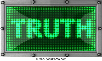 truth announcement on the LED - truth announcement on the...