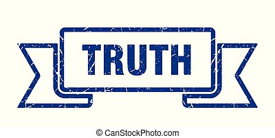 truth grunge ribbon. truth sign. truth banner