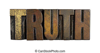 Truth Isolated on White