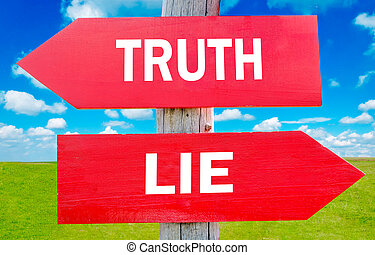 Truth or lie way choice showing strategy change or dilemmas