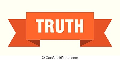 truth ribbon. truth isolated sign. truth banner