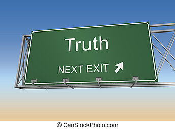 truth road sign 3d illustration
