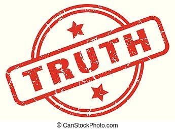 truth round grunge isolated stamp