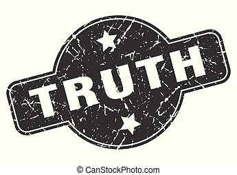 truth round grunge isolated stamp