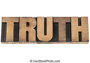 truth word in wood type