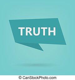 truth word on sticker- vector illustration