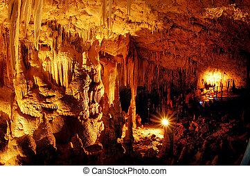 Trvael Photos of Israel - Soreq Cave - Stalactite in Soreq...