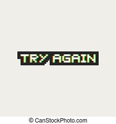 try again visual icon art