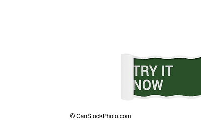 Try it now sign shot clip