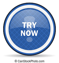 try now blue icon