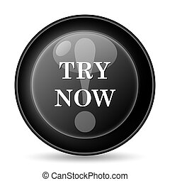 Try now icon. Internet button on white background.