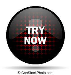 try now red glossy web icon
