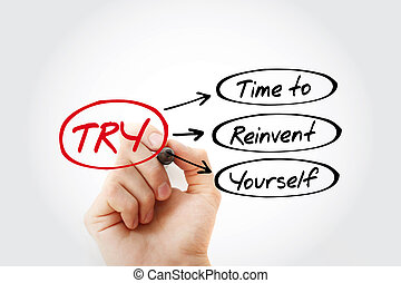 TRY - Time to Reinvent Yourself acronym