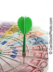 Try your shot in businness. investment game. Business concept
