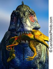 tryannosaurus rex killing dinosaur