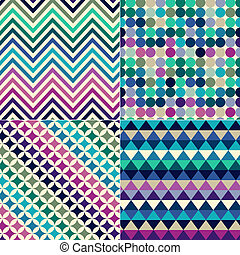 tryck, mönster, geometrisk,  seamless