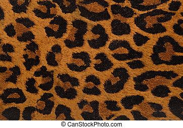 tryck, mönster, leopard