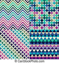 tryck, mönster, seamless, geometrisk