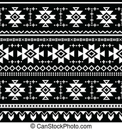 tryck, stam, vektor, seamless, aztekisk