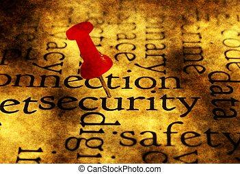 trycka, Säkerhet, ord, moln, stift