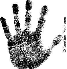 tryk, hånd