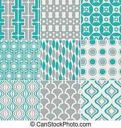 tryk, mønster, seamless, retro