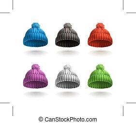 trykotowy, czapki, ikony