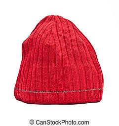 trykotowy, wełniany kapelusz