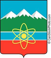 Tryokhgorny city coa - Various vector flags, state symbols,...