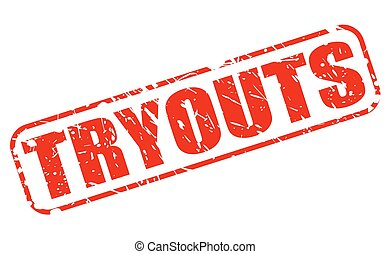 Tryouts red stamp text