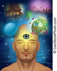 trzecie oko, jasnowidz