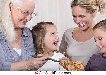 trzej generacje, kobiety