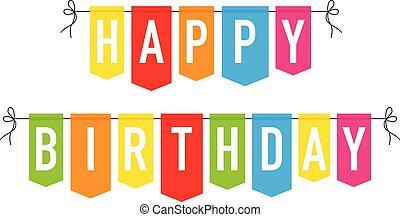 trznadel, szczęśliwy, barwny, urodziny, tło