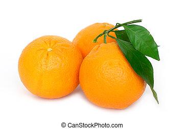 trzy, pomarańcze